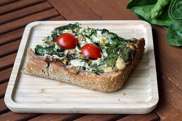 Quiché de trigo sarraceno y verduras