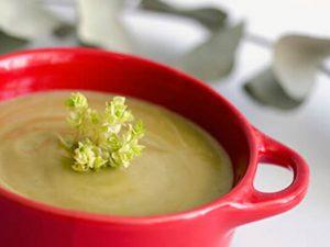 Crema de verduras con tahin